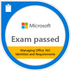 Exam 346 Certification Badge