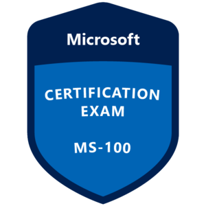 MS-100 Certification badge