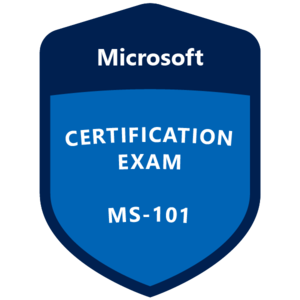 MS-101 Certification badge